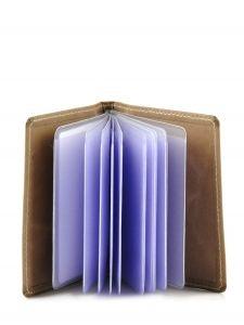 Porte-cartes Cuir Etrier Bleu blanco 600021-vue-porte