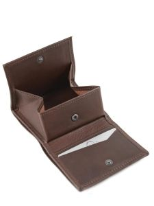 Purse Leather Etrier Brown dakar 200097-vue-porte