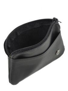 Purse Leather Etrier Black dakar 200339-vue-porte