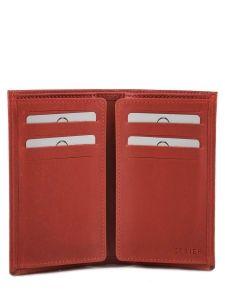 Porte-cartes Cuir Etrier Rouge dakar 200006-vue-porte