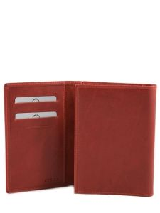 Wallet Leather Etrier Red dakar 200024-vue-porte