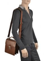 Messenger Bag 2 Compartments Etrier Brown 63026-vue-porte