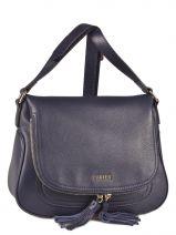 Shoulder Bag Paris Leather Etrier Blue paris EPAR04