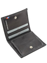 Wallet Leather Etrier Black caro E33133-vue-porte