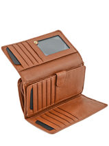 Wallet Leather Etrier Brown tradition EHER905-vue-porte