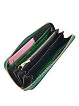 Wallet Leather Etrier Green kyo EKY901-vue-porte