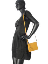 Crossbody Bag Tradition Leather Etrier Yellow tradition EHER014-vue-porte