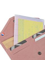 Porte-papiers Cuir Etrier Rose blanco 600054-vue-porte