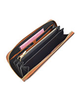 Wallet Leather Etrier Brown kyo EKY901-vue-porte