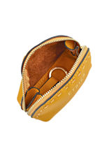 Purse Leather Etrier Yellow tradition EHER902-vue-porte