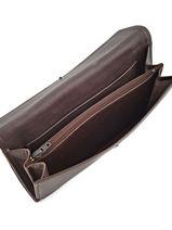 Continental Wallet Leather Etrier Gray blanco 600903-vue-porte
