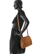 Shoulder Bag Cheyenne Etrier Brown cheyenne ECHE01+-vue-porte