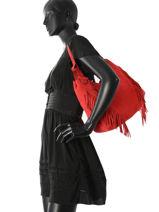 Hobo Bag Cheyenne Leather Etrier Red cheyenne ECHE03-vue-porte
