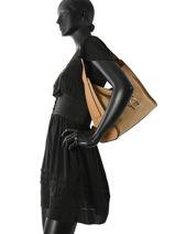 Hobo Bag Caleche Leather Etrier Beige caleche ECAL006B-vue-porte