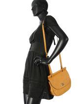 Shoulder Bag Casac Leather Etrier Yellow casac ECAS01-vue-porte