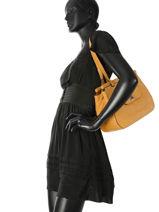 Sac Shopping Casac Cuir Etrier Jaune casac ECAS04-vue-porte