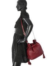 Shoulder Bag Paris Leather Etrier Red paris EPAR10-vue-porte