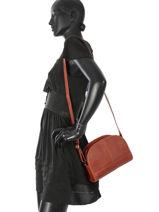 Shoulder Bag Galop Leather Etrier Brown galop EGAL01-vue-porte