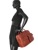 Top Handle Galop Leather Etrier Brown galop EGAL05-vue-porte