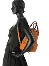 Backpack Etrier Brown galop EGAL06-vue-porte