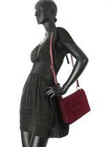 Shoulder Bag Jockey Etrier Red jockey EJOC01-vue-porte