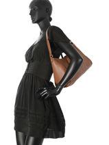 Shoulder Bag Paris Leather Etrier Brown paris EPAR17-vue-porte