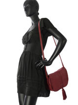 Shoulder Bag Allure Leather Etrier Red allure EBALL01G-vue-porte