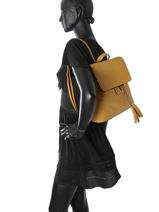Backpack Etrier Yellow tradition EHER026-vue-porte