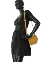 Shoulder Bag Tradition Leather Etrier Yellow tradition EHER022-vue-porte