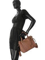 Shopper Tradition Leather Etrier Brown tradition EHER024-vue-porte