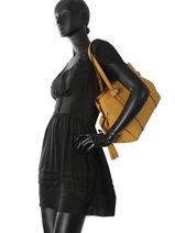 Shopper Tradition Leather Etrier Yellow tradition EHER025-vue-porte