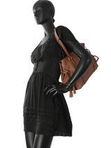 Sac Shopping Tradition Cuir Etrier Marron tradition EHER025-vue-porte