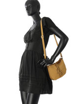 Crossbody Bag Tradition Leather Etrier Yellow tradition EHER003A-vue-porte