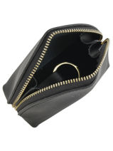 Purse Leather Etrier Black kyo EKY902-vue-porte