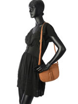 Crossbody Bag Allure Leather Etrier Brown allure EBALL05-vue-porte