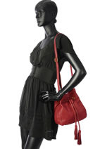 Crossbody Bag Allure Leather Etrier Red allure EBALL07-vue-porte