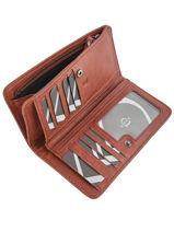 Wallet Leather Etrier Brown galop EGAL906-vue-porte