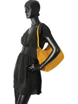 Hobo Bag Tradition Leather Etrier Yellow tradition EHER021-vue-porte