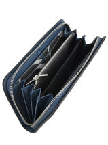 Wallet Leather Etrier Blue caleche ECAL901B-vue-porte