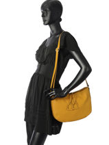 Crossbody Bag Tradition Leather Etrier Yellow tradition EHER002A-vue-porte