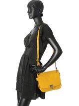 Shoulder Bag Tess Leather Etrier Yellow tess ETESS09-vue-porte