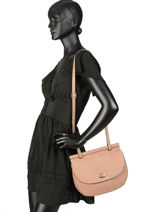Shoulder Bag Casac Leather Etrier Pink casac ECAS01-vue-porte