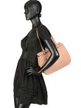 Sac Shopping Casac Cuir Etrier Rose casac ECAS04-vue-porte