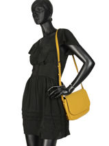 Shoulder Bag Balade Leather Etrier Yellow balade EBAL04-vue-porte