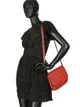Shoulder Bag Balade Leather Etrier Blue balade EBAL04-vue-porte