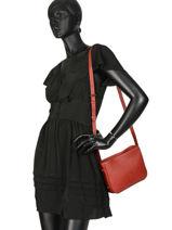 Shoulder Bag Balade Leather Etrier Red balade EBAL05-vue-porte