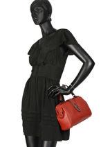 Small Top Handle Balade Leather Etrier Red balade EBAL10-vue-porte