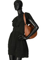 Shoulder Bag Balade Leather Etrier Brown balade EBAL07-vue-porte