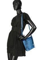 Bucket Bag Cabriole Leather Etrier Blue cabriole ECABR04-vue-porte