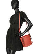 Bucket Bag Cabriole Leather Etrier Red cabriole ECABR04-vue-porte